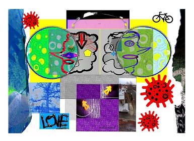 Love in times of COVID / Size: 26x31 in. / Series: Quarantine times