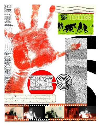 No se vale mano roja / Size: 32x27 in. / Series: Symbols & Time